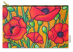 Tuscan Poppies - Crop 2 Carry-all Pouch