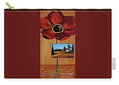 Tuscan Poppy Postcard Carry-all Pouch
