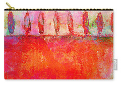 Tuscan Trees In Vivid Color Carry-all Pouch by Suzanne Powers