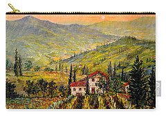 Tuscan Twilght Carry-all Pouch by Lou Ann Bagnall