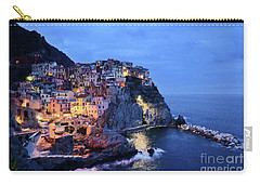 Tuscany Like Amalfi Cinque Terre Evening Lights Carry-all Pouch