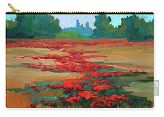 Tuscany Poppy Field Carry-all Pouch by Diane McClary
