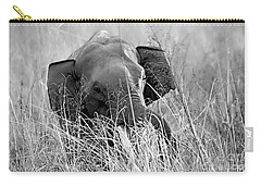 Tusker In The Grass Carry-all Pouch by Pravine Chester