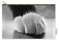 Tuxedo Cat Paw Black And White Carry-all Pouch