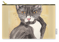 Tuxedo Cat With Attitude Carry-all Pouch