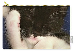 Tuxedo Kitten Snoozing Carry-all Pouch