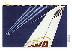 Twa Star Stream Jet - Minimalist Vintage Advertising Poster Carry-all Pouch