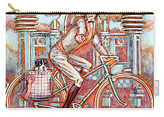 Carry-all Pouch featuring the painting Tweed Runner And Major Nichols by Mark Howard Jones
