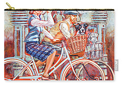 Carry-all Pouch featuring the painting Tweed Runners On Pashleys by Mark Howard Jones