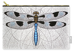 Twelve Spotted Skimmer Carry-all Pouch by Charles Harden