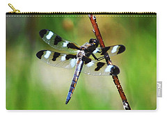Carry-all Pouch featuring the photograph Twelve Spotted Skimmer by Rodney Campbell