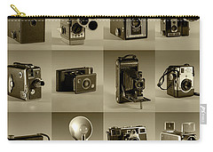 Twenty Old Cameras - Sepia Carry-all Pouch by Art Whitton