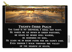 Twenty-third Psalm Prayer Carry-all Pouch by James BO  Insogna