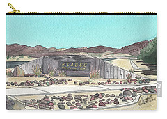 Carry-all Pouch featuring the painting Twentynine Palms Welcome by Betsy Hackett