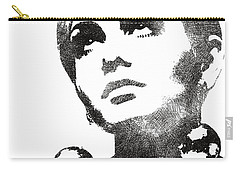Twiggy Bw Portrait Carry-all Pouch