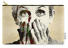 Twiggy Surprised Carry-all Pouch by Mihaela Pater