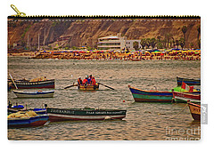 Carry-all Pouch featuring the photograph Twilight At The Beach, Miraflores, Peru by Mary Machare