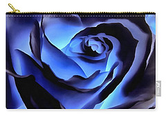 Twilight Blue Rose  Carry-all Pouch