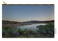 Carry-all Pouch featuring the photograph Twilight In The Desert by Margaret Pitcher