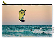 Twilight Kite Surfer Under The Moon Carry-all Pouch
