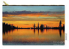 Twilight Lake Reflections In Colorado Carry-all Pouch