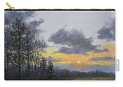 Carry-all Pouch featuring the painting Twilight Meadow by Kathleen McDermott