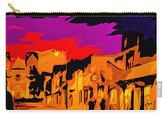 Twilight On The Plaza Santa Fe Carry-all Pouch