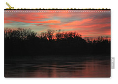 Carry-all Pouch featuring the photograph Twilight On The River by Chris Berry