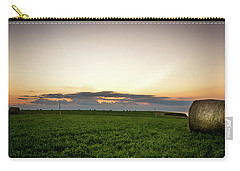 Carry-all Pouch featuring the photograph Twilight Prince Edward Island Fields by Chris Bordeleau