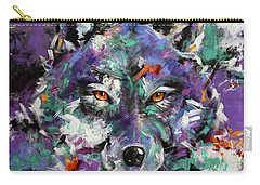 Twilight Purple Wolf Carry-all Pouch