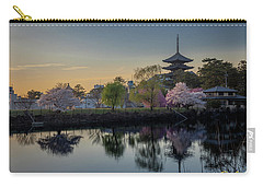 Carry-all Pouch featuring the photograph Twilight Temple by Rikk Flohr