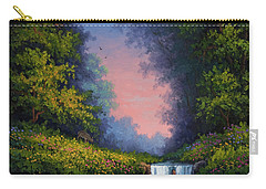 Carry-all Pouch featuring the painting Twilight Whisper by Kyle Wood