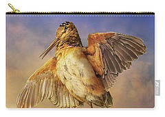 Twilight Woodcock Rising Carry-all Pouch by R christopher Vest