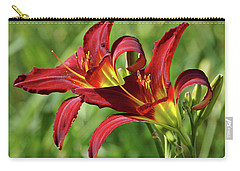 Carry-all Pouch featuring the photograph Twin Daylilies by Sandy Keeton
