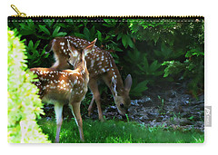 Twin Fawns Carry-all Pouch by Katie Wing Vigil