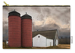 Carry-all Pouch featuring the photograph Twin Silos by Robin-Lee Vieira