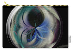 Carry-all Pouch featuring the photograph Twirl Line Orb by Judy Wolinsky