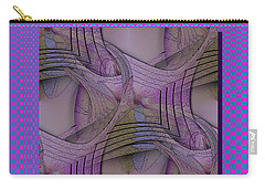 Carry-all Pouch featuring the digital art Twist Again by Iris Gelbart