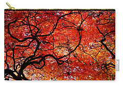 Twisted Red Carry-all Pouch by Colleen Kammerer