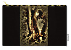 Carry-all Pouch featuring the photograph Twisted Trees by Tom Prendergast
