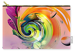 Carry-all Pouch featuring the digital art Twister Light By Nico Bielow by Nico Bielow