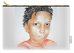 Twists, At 9 -- Portrait Of African-american Boy Carry-all Pouch