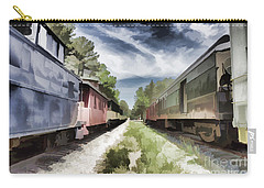 Twixt The Trains Carry-all Pouch by Roberta Byram