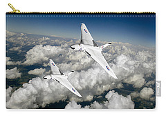 Carry-all Pouch featuring the photograph Two Avro Vulcan B1 Nuclear Bombers by Gary Eason