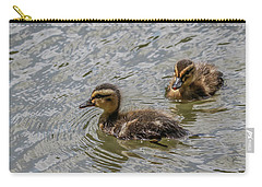 Two Baby Ducks Carry-all Pouch by Ray Congrove
