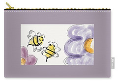 Two Bees Or Not Two Bees Carry-all Pouch by Jason Nicholas