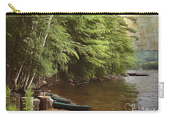 Carry-all Pouch featuring the digital art Two Birches by Christopher Meade