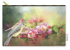 Two Birds Admiring The View Carry-all Pouch by Janette Boyd