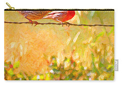 Two Birds On A Wire Carry-all Pouch