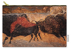 Two Bisons Running Carry-all Pouch